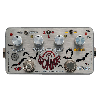 Zvex Sonar Vexter Tremolo Effects Pedal For Guitar